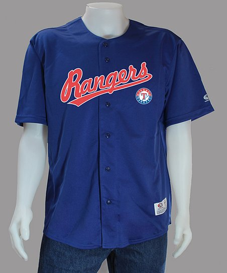 best service 2f7df fe455 Stitches Athletic Gear Royal Texas Rangers Jersey - Men