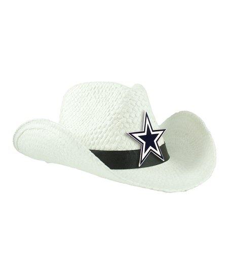 ccdf5db34b7a4c Little Earth White Dallas Cowboys Cowboy Hat - Women | Zulily