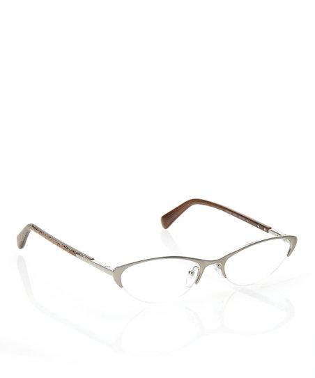 620c9b68595b love this product Silver 53-mm Semi-Rimless Wide Cat-Eye Eyeglasses
