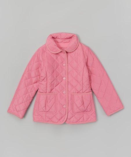 e240e44258d E-Land Kids Pink Quilted Jacket - Girls