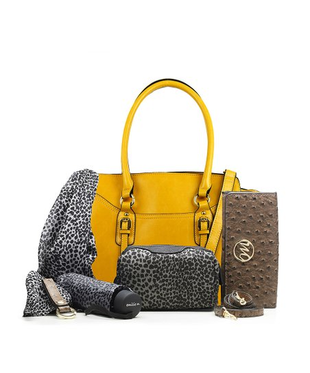 8fe9e25e843 emilie m. Yellow Morgan Satchel & Essentials Box Set | Zulily