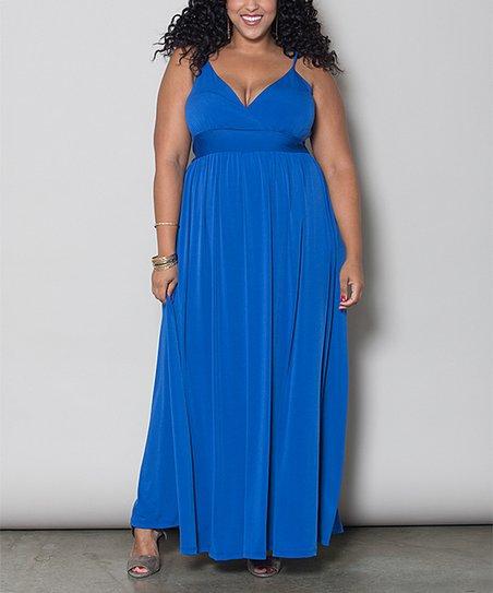 love this product Royal Blue Sabrina Maxi Dress - Plus