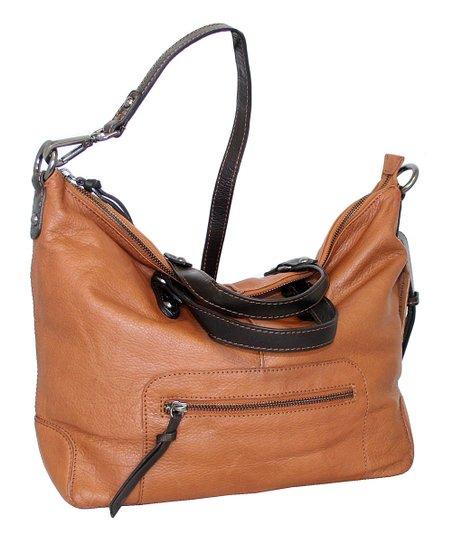 5e58ac048b Nino Bossi Handbags Cognac Colossal Leather Convertible Crossbody ...