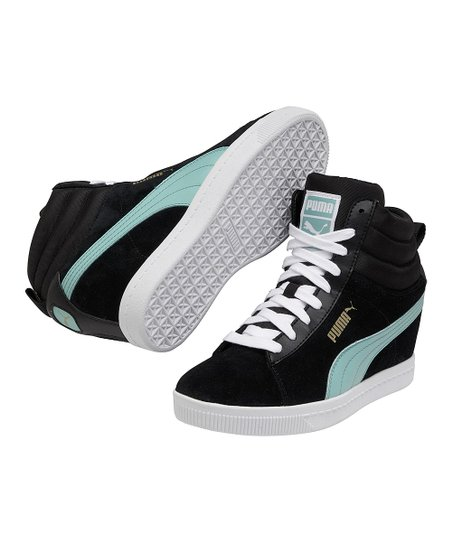 2fc314ae3d65 PUMA Black   Electric Blue Puma Classic Wedge Sneaker