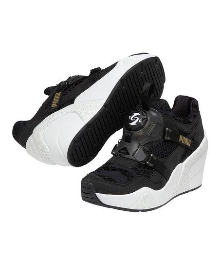 a161a0c6d41 PUMA Black   White Disc Wedge Sneaker
