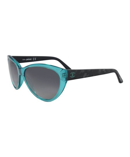 0729ccf3c1092 love this product Turquoise   Black Cat-Eye Sunglasses - Women