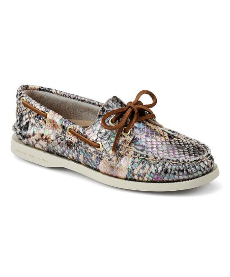 477d8ecf6aa7 Sperry Top-Sider Shimmer Python Authentic Original Leather Boat Shoe ...