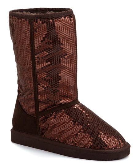 Ositos Shoes Brown Sequin Febe Boot - Girls  7442827c0