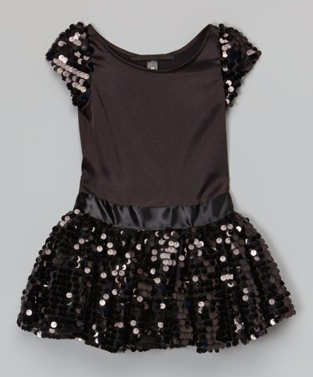092cebcc2ccb Dolls and Divas Couture Black Sequin Dress - Toddler & Girls | Zulily