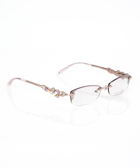 7ef57ddf93c love this product Rose Gold Crystal Embellished Rimless Glasses