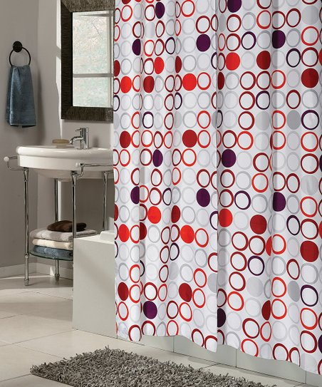 Bohemia Snap On Grommet Shower Curtain