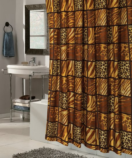Wild Encounters Snap On Grommet Shower Curtain