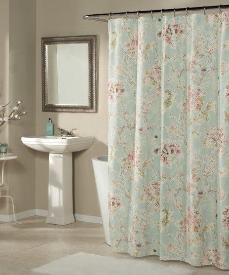 Aqua Millie Shower Curtain