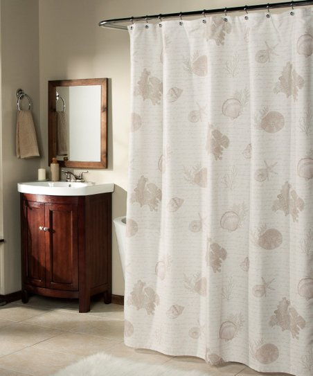 Love This Product Sand Seaside Script Shower Curtain