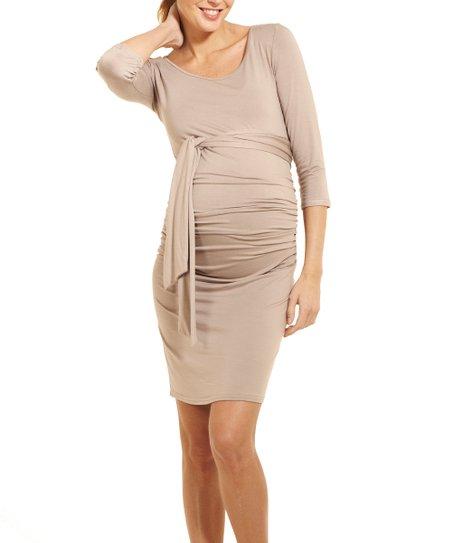 88134890556f4 Envie de Fraise Taupe Blondie Maternity Dress | Zulily