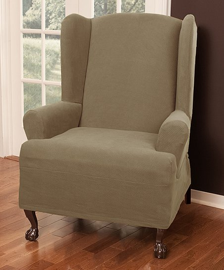 Fabulous Maytex Sand Stretch Pixel Wing Chair Cover Gmtry Best Dining Table And Chair Ideas Images Gmtryco