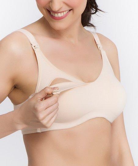 f32b32929260c love this product Nude Seamless Full-Fit Wireless Cotton Nursing Bra - Plus  Too