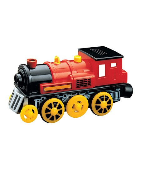 Wooden Tracks Red Wooden Motorized Train Engine