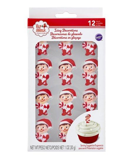 Elf On The Shelf Candy Cane Icing Decoration Set