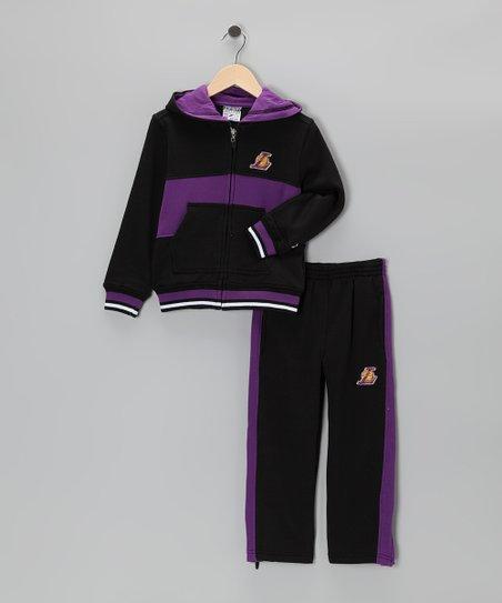 Zipway Black Chones Los Angeles Lakers Zip Up Hoodie Pants Kids Zulily