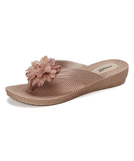 20ab8df1e810c0 Capelli New York Rose Gold Flower Textured Flip-Flop