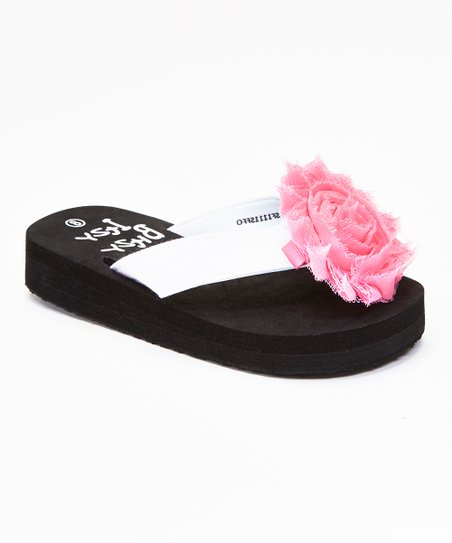 66b5bd204 love this product White   Light Pink Flower Flip-Flop   Clip