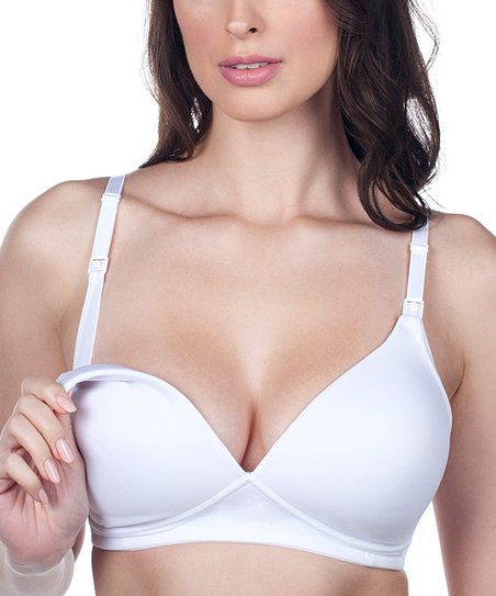 436f67bfd love this product White Molded Seamless Wireless Nursing Bra - Plus Too
