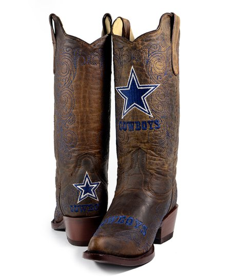 best sneakers ec300 b10ed Old Pro Leather Goods Co. Dallas Cowboys Flyover Cowboy Boot - Women