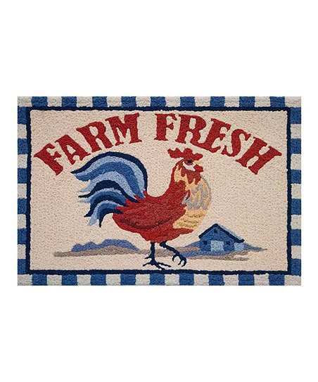 Jellybean Rugs Farm Fresh Rooster Rug Zulily
