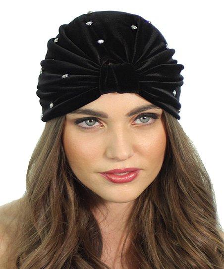 88de6ace2ef Kristin Perry Accessories Black Crystal Stud Turban