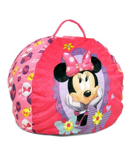 Admirable Minnies Bow Tique Minnie Mouse Beanbag Chair Zulily Creativecarmelina Interior Chair Design Creativecarmelinacom