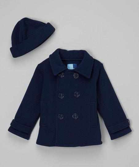 love this product Navy Fleece Peacoat   Hat - Infant c84749dc8