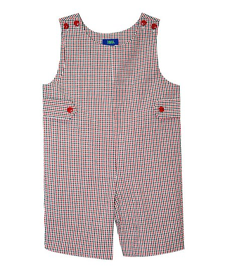 7eba425768960 love this product Red   Black Plaid Shortalls - Toddler