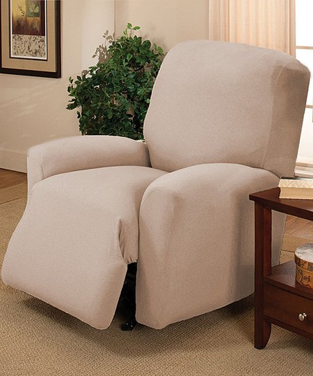 Kashi Home Off-White Jersey Recliner Slipcover  5e890259a2