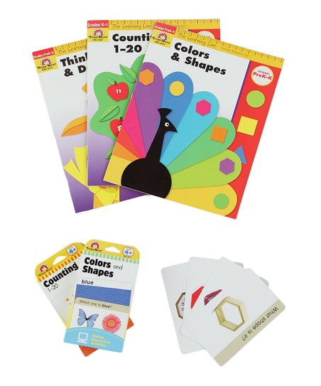 Evan-Moor Educational Publishers Colors & Counting Flash Cards & Workbook  Set
