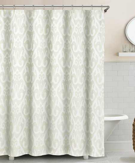 Duck River Textile Champagne Martina Ikat Shower Curtain