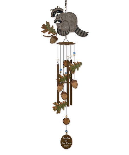 Raccoon Wind Chime Zulily