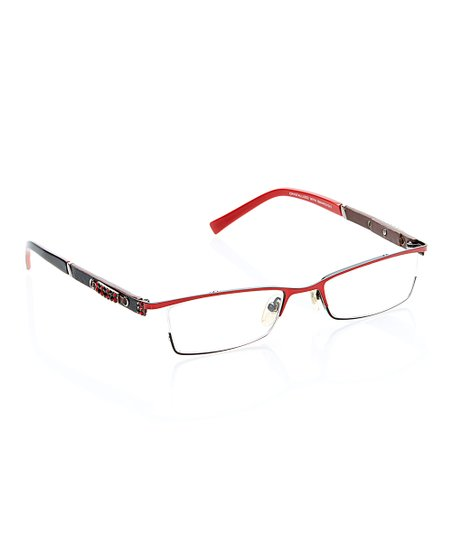 44d61e8e7ac9 JIMMY CRYSTAL NEW YORK Red Browline Readers With Swarovski® Crystal ...
