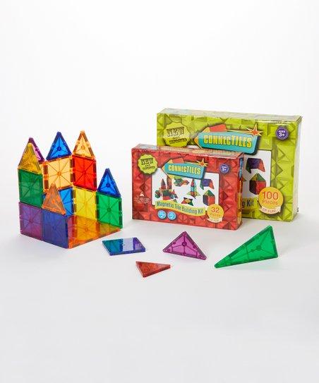 132 Piece Magnetic Tile Building Set