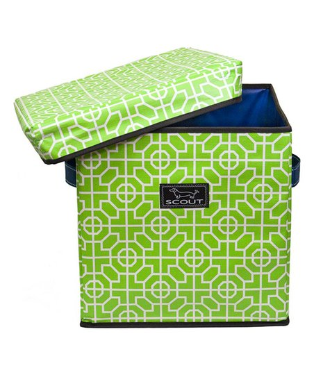 Brilliant Scout By Bungalow Lime Green Tile Cube Storage Ottoman Zulily Uwap Interior Chair Design Uwaporg