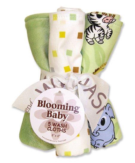 Trend Lab Sage Brown Chibi Zoo Washcloth Set Zulily