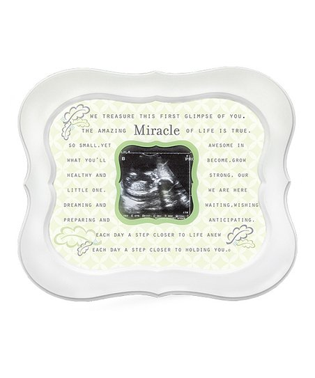 The Grandparent Gift Co White Miracle Ultrasound Scalloped Frame