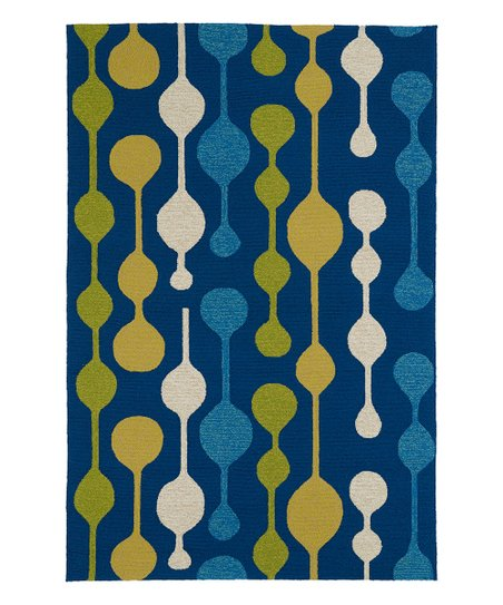 Kaleen Blue Yellow Mod Home Porch Indoor Outdoor Rug Zulily