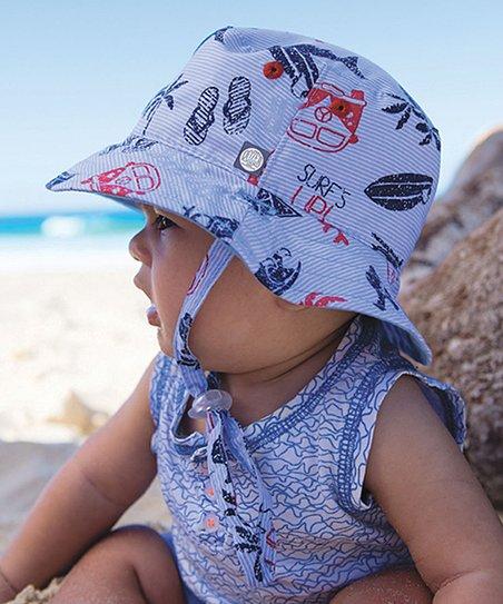 219a12470 Millymook & Dozer Blue & Red Kai Reversible Bucket Hat