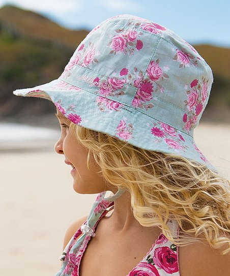 ba19d7f70d5 Millymook   Dozer Mint Chloe Reversible Bucket Hat - Toddler   Girls ...
