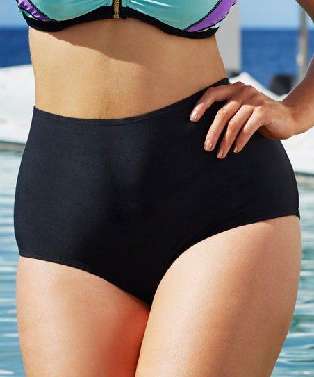 80cb1c98d1 Swim Sexy Black French Riviera High-Waist Bikini Bottoms - Women ...