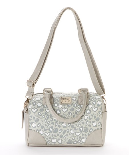 3c965ce64 love this product Silver & White Leopard Hello Kitty Crossbody Bag