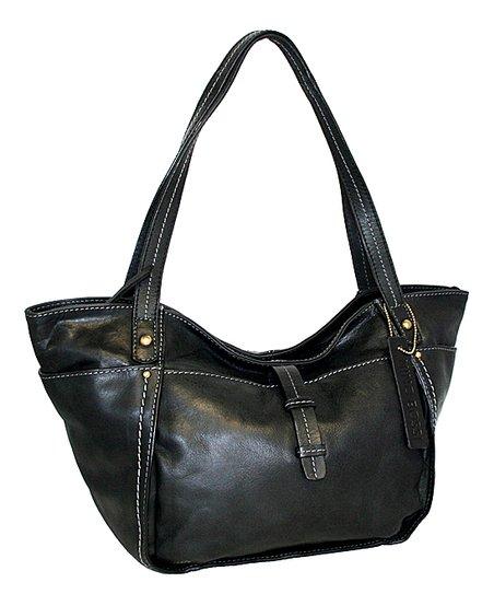 Black Lambada Leather Tote