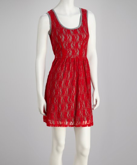 b89f533bd1 love this product Red Apple   Heather Gray Lace Dress