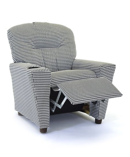 Kidzworld Black White Houndstooth Kids Recliner Cup Holder Zulily